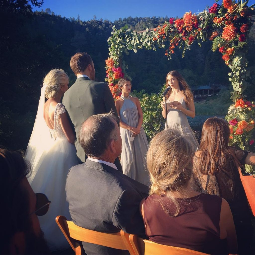 Troian Bellisario Attended A Wedding At Calistoga Ranch Yesterday August 27 She And Her Man Patrick J Adams The Outdoor