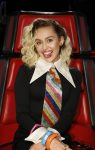 """THE VOICE -- """"Live Playoffs""""  Episode: 1113A -- Pictured: Miley Cyrus -- (Photo by: Trae Patton/NBC)"""